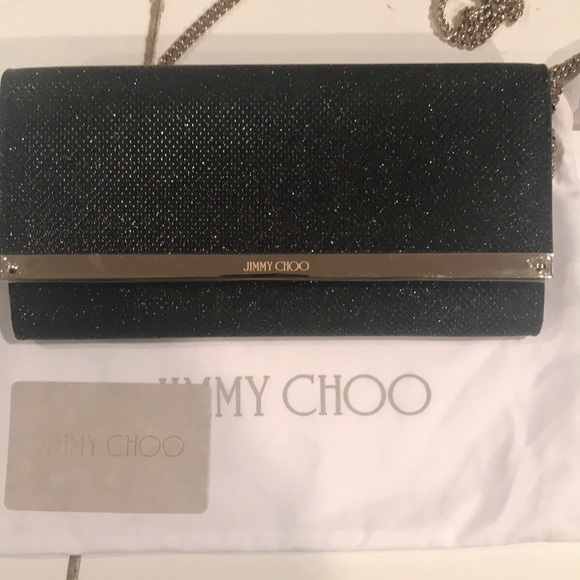 1e63e47dfd Jimmy Choo Bags | New Milla Lam Glitter Clutch Black | Poshmark